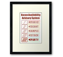 Plentiful Bacon! Framed Print