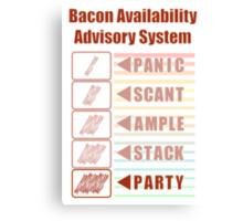 Plentiful Bacon! Canvas Print