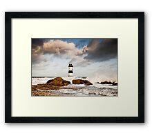 Stormy Seas by Smart Imaging Framed Print