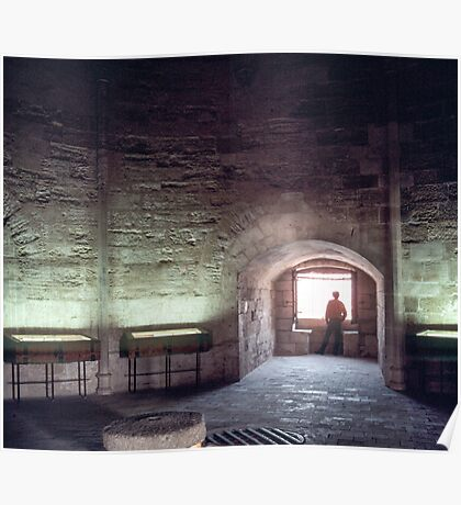 Interior silhouette C13 Tower of Constance prison for Huguenots 19840304 0039 Poster