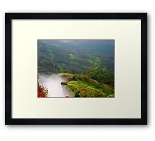 Green mountains full of Fog in Mahableshwer India Framed Print