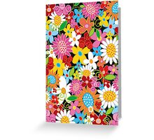 Colorful Spring Flowers Garden Greeting Card