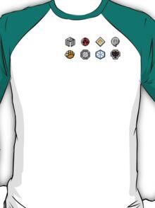 Johto Gym Badges (Pixel) T-Shirt