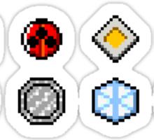 Johto Gym Badges (Pixel) Sticker