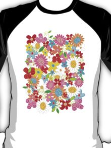 Colorful Spring Flowers Garden T-Shirt
