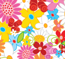 Colorful Spring Flowers Garden Sticker