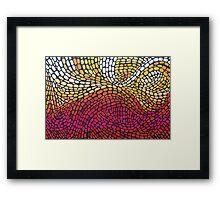 Expanding Energy Mosaic Framed Print