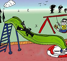 The Yen is Sliding Editorial Business Cartoon by Binary-Options