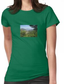 Landscape Of Icmeler Marmaris Turkey From Mountain Road Womens Fitted T-Shirt