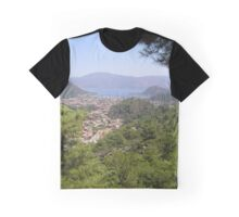 Landscape Of Icmeler Marmaris Turkey From Mountain Road Graphic T-Shirt