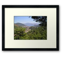 Landscape Of Icmeler Marmaris Turkey From Mountain Road Framed Print