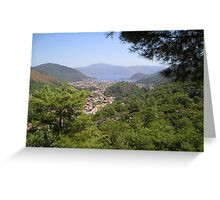 Landscape Of Icmeler Marmaris Turkey From Mountain Road Greeting Card