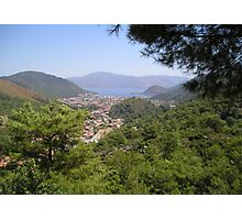 Landscape Of Icmeler Marmaris Turkey From Mountain Road Photographic Print