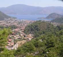 Landscape Of Icmeler Marmaris Turkey From Mountain Road Sticker