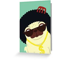 Pug in bling Greeting Card