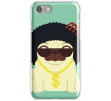 Pug in bling iPhone Case/Skin