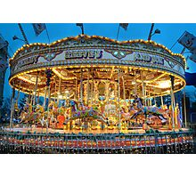 Carousel in Bournemouth Photographic Print