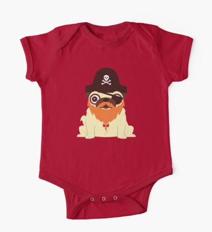 Pug in a crew One Piece - Short Sleeve