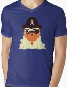 Pug in a crew Mens V-Neck T-Shirt