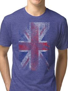 Union Jack - Flag Great Britain - Vintage Look Tri-blend T-Shirt