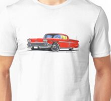 Chevrolet Bel Air Impala (1958) Red Unisex T-Shirt
