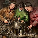 Car Mechanic - In a mothers care 1900 by Mike  Savad