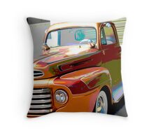 Copper Vintage Ford Truck Throw Pillow