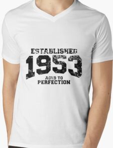 Established 1953 - Aged to Perfection Mens V-Neck T-Shirt