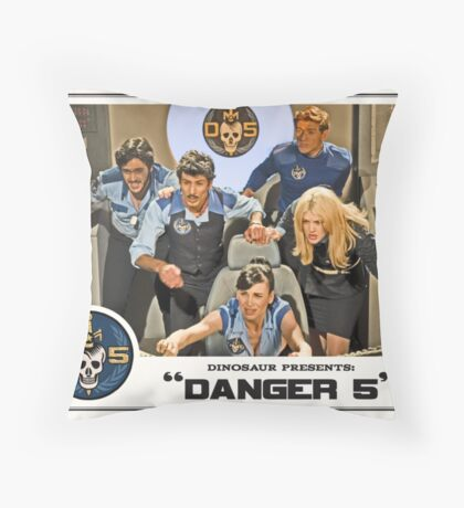 "Danger 5 Lobby Card #3 - ""In the balance"" Throw Pillow"