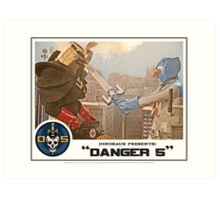"""Danger 5 Lobby Card #4 - """"Danger Damage"""" Art Print"""