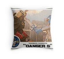 "Danger 5 Lobby Card #4 - ""Danger Damage"" Throw Pillow"