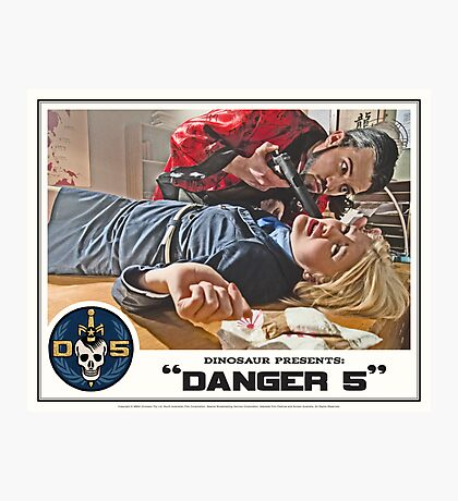 "Danger 5 Lobby Card #6 - ""You talk to much"" Photographic Print"