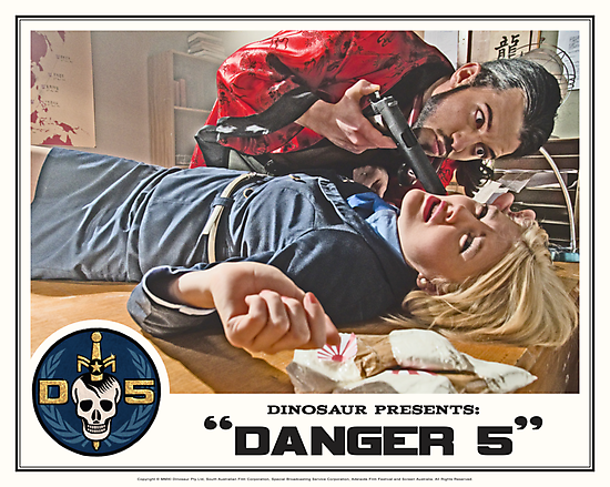 "Danger 5 Lobby Card #6 - ""You talk to much"" by Danger Store"