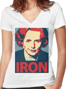 IRON LADY Women's Fitted V-Neck T-Shirt
