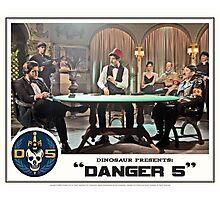 "Danger 5 Lobby Card #8 - ""Die John Baccarat!"" Photographic Print"