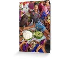 Making Offering Greeting Card