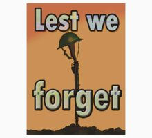 LEST WE FORGET T. by Jon de Graaff
