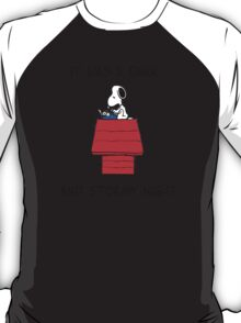 Snoopy - It was a dark and stormy night T-Shirt