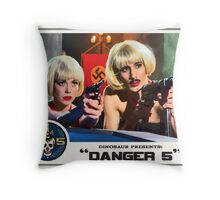 "Danger 5 Lobby Card #9 - ""Swiss Kiss"" Throw Pillow"