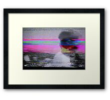 Glitch art - analogue video degeneration Framed Print