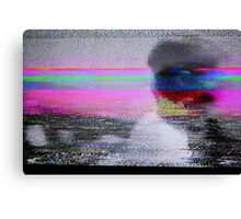 Glitch art - analogue video degeneration Canvas Print