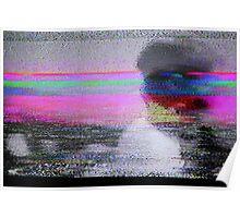 Glitch art - analogue video degeneration Poster