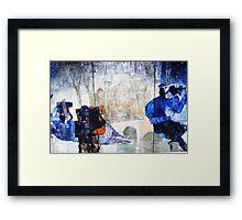Graffiti blue Framed Print