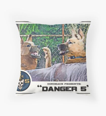 "Danger 5 Lobby Card #11 - ""Hast du feuer mein liebe?"" Throw Pillow"
