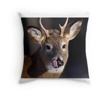 Young Whitetail Buck  Throw Pillow