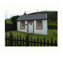Cottage in Wanlockhead, Scotland Art Print