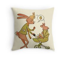 Incorrigibly Fatherly Rabbit Throw Pillow