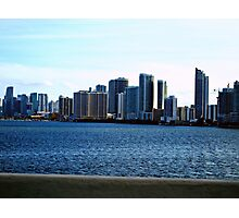 Miami Beach Skyline - South Florida Cityscapes Photographic Print