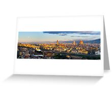 Moon over Florence Greeting Card