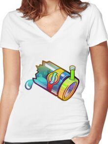 Space Bong Women's Fitted V-Neck T-Shirt